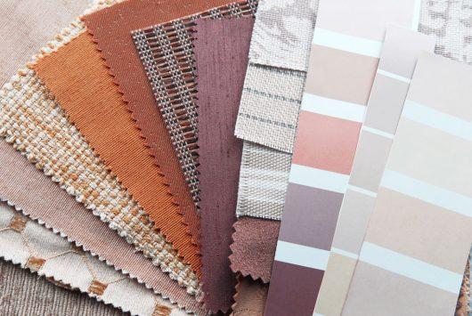 vzorky a materiály interiér