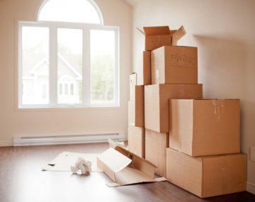 krabice sťahovanie prázdny byt