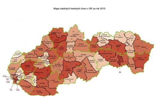mapa násilných trestných činov