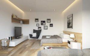 spálňa s obývačkou