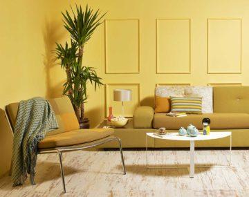 žltá obývačka