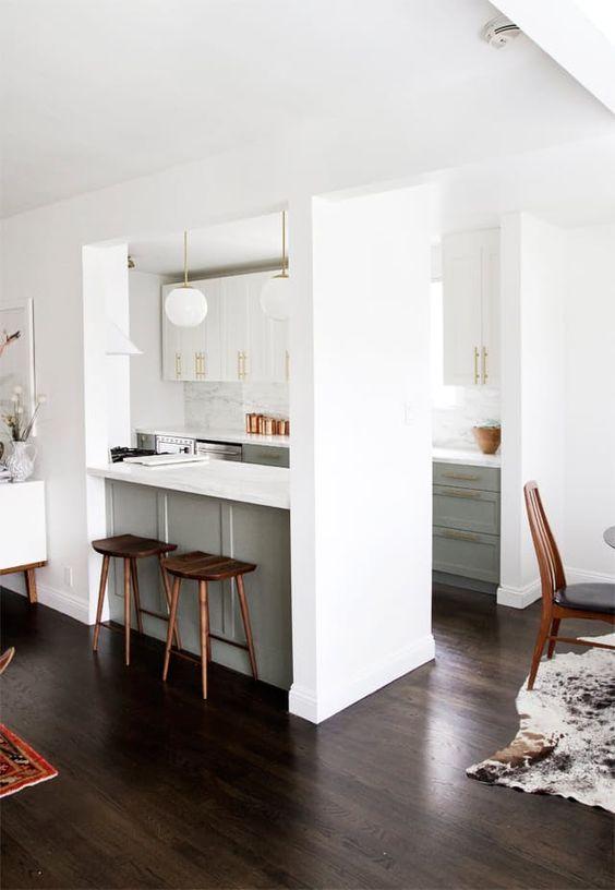 prepojenie obývačky s kuchyňou