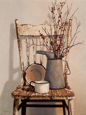 stará stolička v prírodnom duchu