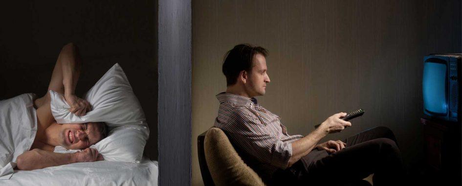 Rušenie nočného kľudu a susedov hlasným televízorom