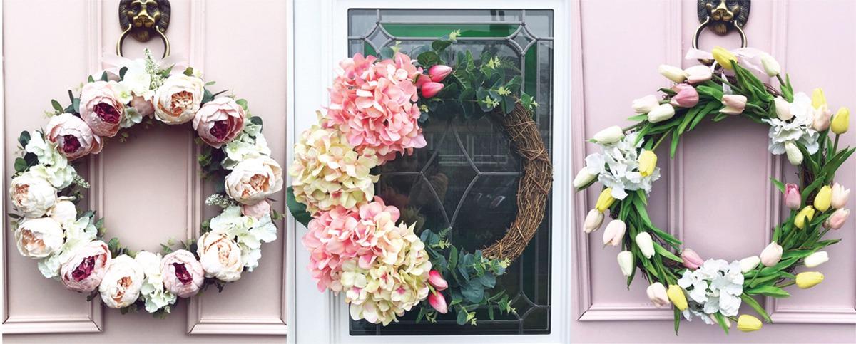 jarný veniec na dvere