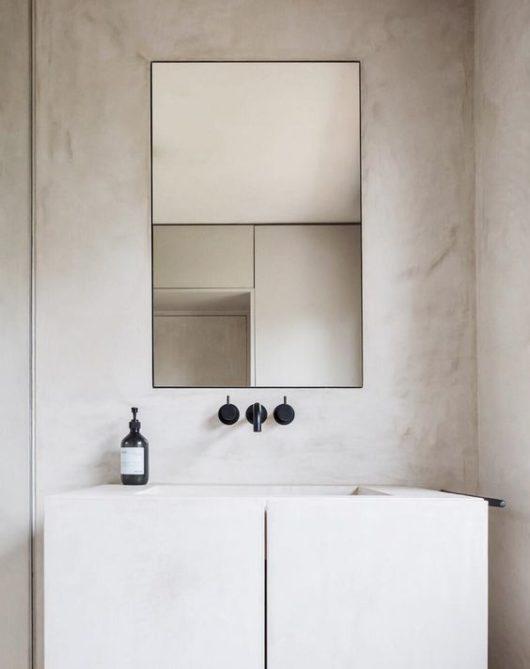 Umývadlo v minimalistickom štýle
