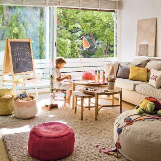 obývačka prispôsobená deťom